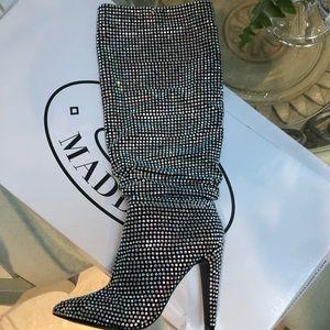 ✨Steve Madden Crushing Rhinestone Slouch Boots ✨